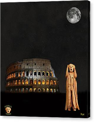 The Scream World Tour Rome Canvas Print by Eric Kempson