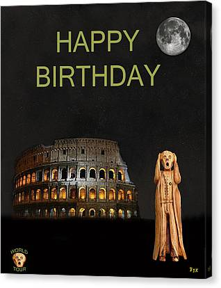 The Scream World Tour Rome Happy Birthday Canvas Print by Eric Kempson