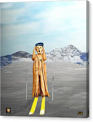 The Scream World Tour Skiing  Canvas Print