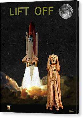 The Scream World Tour Space Shuttle Lift Off Canvas Print by Eric Kempson
