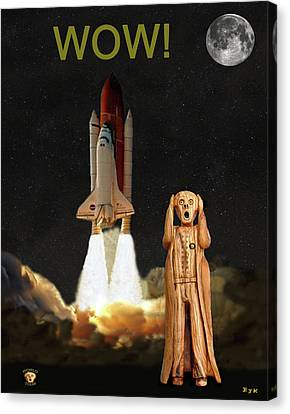 The Scream World Tour Space Shuttle Wow Canvas Print by Eric Kempson