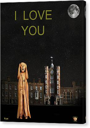 The Scream World Tour St James's Palace I Love You Canvas Print by Eric Kempson