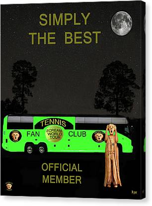 Atp World Tour Canvas Print - The Scream World Tour Tennis Tour Bus Simply The Best by Eric Kempson