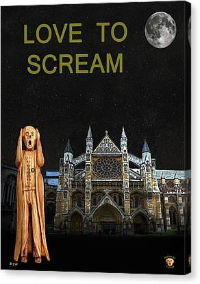 The Scream World Tour Westminster Abbey Love To Scream Canvas Print by Eric Kempson