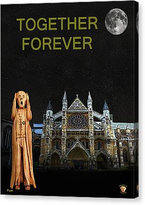 The Scream World Tour Westminster Abbey Together Forever Canvas Print
