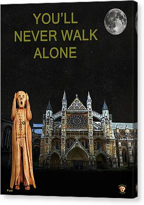 The Scream World Tour Westminster Abbey Youll Never Walk Alone Canvas Print