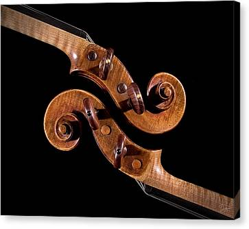 Canvas Print featuring the photograph The Scroll And It's Clone by Endre Balogh