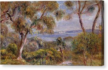 The Sea At Cagnes Canvas Print by Pierre Auguste Renoir