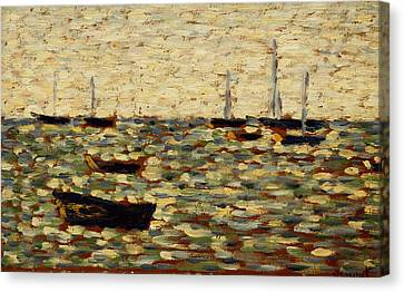 The Sea At Grandcamp Canvas Print by Georges Pierre Seurat
