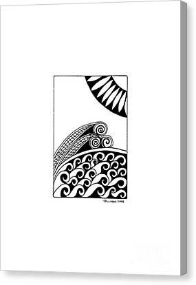 The Sea Canvas Print by Billinda Brandli DeVillez