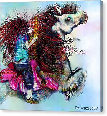The Sea Horse Fairy Canvas Print by Kari Nanstad