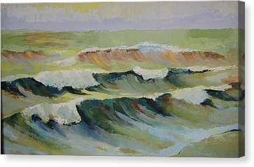 The Sea Canvas Print by Mabel Moyano