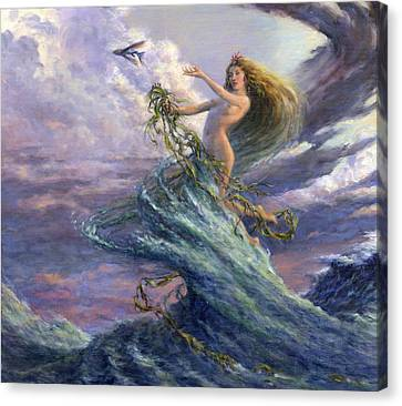 The Storm Queen Canvas Print by Richard Hescox