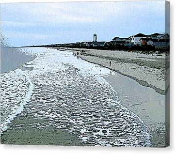 Canvas Print featuring the photograph The Seacoast by Skyler Tipton