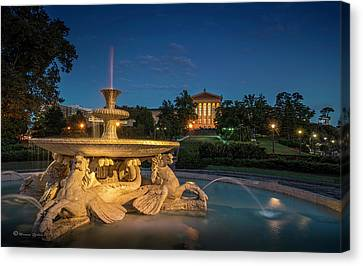 The Seahorse Fountain Canvas Print by Marvin Spates