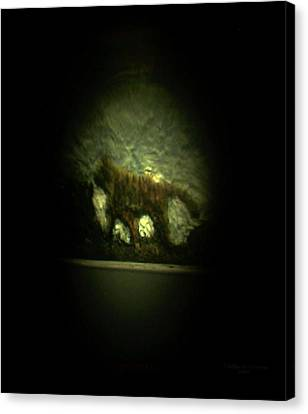 Nanomicroinfinity Jumbo Art Canvas Print - The Searching Tiger by Phillip H George
