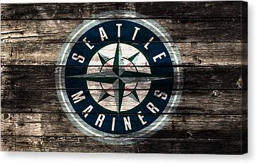 The Seattle Mariners 3a Canvas Print by Brian Reaves