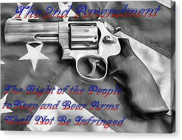 The Second Amendment Black And White Canvas Print by JC Findley