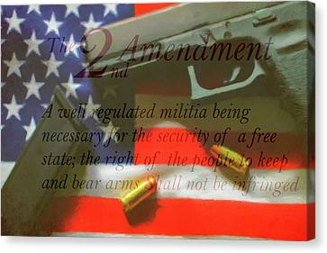 Tea Party Canvas Print - The Second Amendment by Dan Sproul