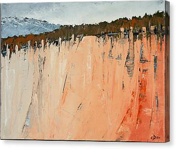 The Second Cliff Edge Canvas Print by Carolyn Doe