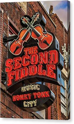 Canvas Print featuring the photograph The Second Fiddle Nashville by Stephen Stookey