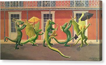 The Second Line Canvas Print