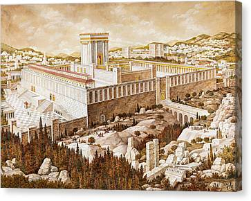 The Second Temple Jerusalem Canvas Print by Aryeh Weiss