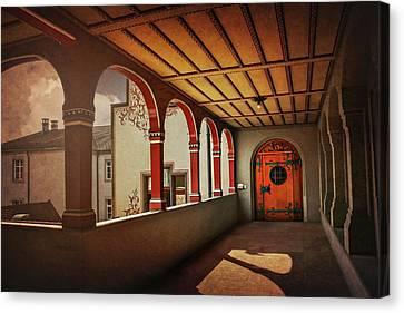 The Secret Door In Basel Switzerland  Canvas Print by Carol Japp