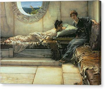 The Secret Canvas Print by Sir Lawrence Alma-Tadema