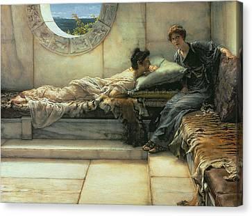 The Secret Canvas Print by Sir Lawrence Alma-Tadema