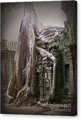 The Secrets Of Angkor Canvas Print by Eena Bo