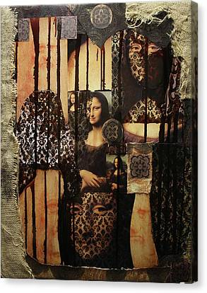 The Secrets Of Mona Lisa Canvas Print by Michael Kulick