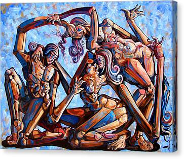 The Seduction Of The Muses Canvas Print by Darwin Leon