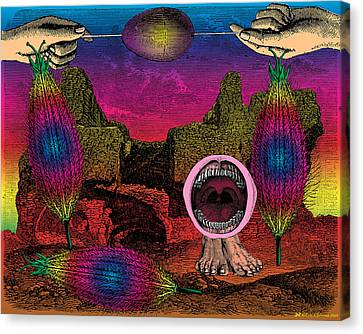 Outmoded Canvas Print - The Seed-pod Song by Eric Edelman