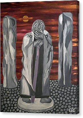 Canvas Print featuring the painting The Seer by Carolyn Cable