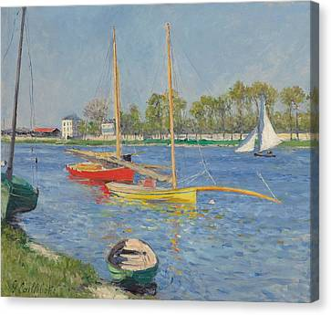 Riverscape Canvas Print - The Seine At Argenteuil by Gustave Caillebotte