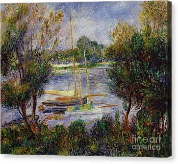 The Seine At Argenteuil Canvas Print by Pierre Auguste Renoir