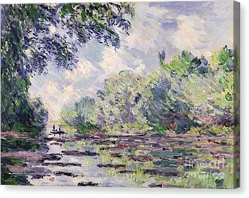 The Seine At Giverny Canvas Print by Claude Monet