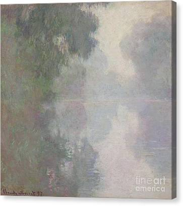 The Seine At Giverny, Morning Mists Canvas Print by Claude Monet