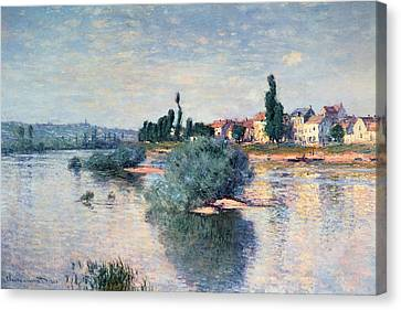 The Seine At Lavacourt Canvas Print by Claude Monet