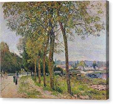The Seine At Marly Canvas Print by Alfred Sisley