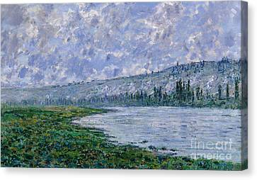 The Seine At Vetheuil, 1880 Canvas Print