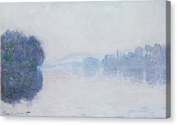 The Seine Near Vernon Canvas Print by Claude Monet