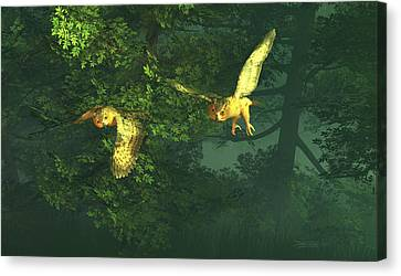 The Sentinels Of Night Canvas Print by Dieter Carlton