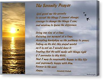 The Serenity Prayer Canvas Print by Barbara Snyder