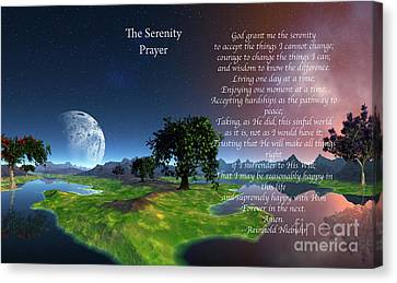 The Serenity Prayer Canvas Print by Heinz G Mielke