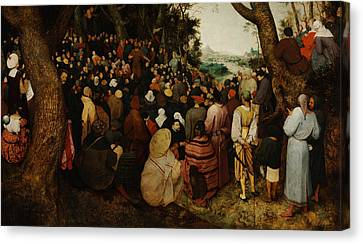 Bruegel Canvas Print - The Sermon Of Saint John The Baptist by Pieter Bruegel the Elder