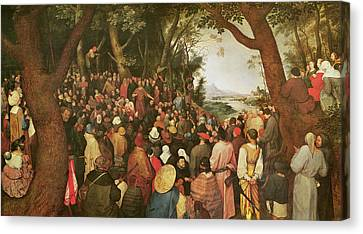 Bruegel Canvas Print - The Sermon Of Saint John The Baptist by Pieter the elder Bruegel