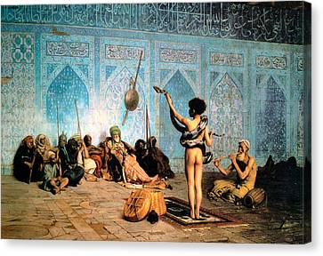 The Serpent Charmer Canvas Print by Jean Leon Gerome