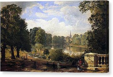 Hyde Park Canvas Print - The Serpentine by Jasper Francis Cropsey